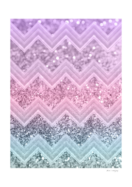 Unicorn Glitter Chevron #1 #pastel #shiny #decor #art