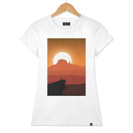 A Desert Sunset