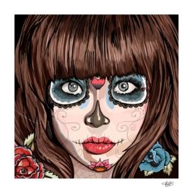 Mexican skull gals