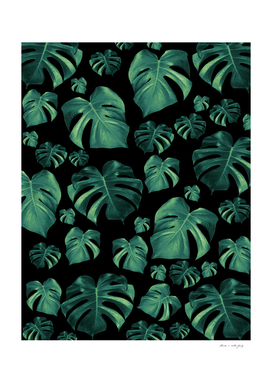 Tropical Monstera Pattern #4 #tropical #decor #art