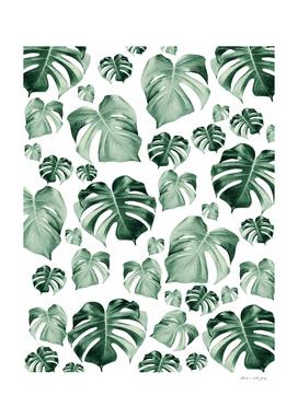 Tropical Monstera Pattern #2 #tropical #decor #art