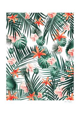 Tropical Flowers & Leaves Paradise #2 #tropical #decor #art