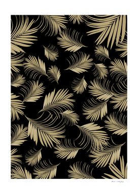 Palm Leaves Pattern - Gold Cali Vibes #5 #tropical #decor