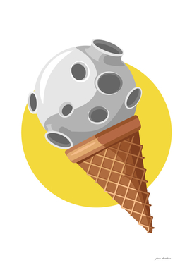 Planet in waffle cone