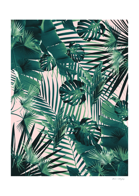 Tropical Jungle Leaves Siesta #2 #tropical #decor #art
