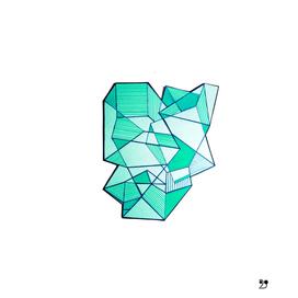 Minimal geometric abstract art