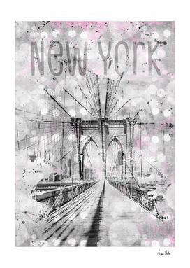 Graphic Art NEW YORK CITY Brooklyn Bridge