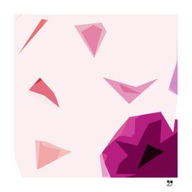 Wild flower scadinavian abstract pink