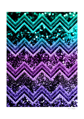 Unicorn Glitter Chevron #4 #shiny #decor #art