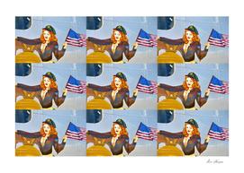 Liberty Belle B 17 pop art