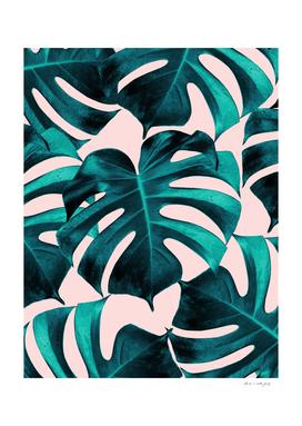 Tropical Monstera Leaves Dream #7 #tropical #decor #art