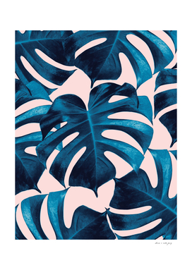 Tropical Monstera Leaves Dream #9 #tropical #decor #art
