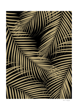 Palm Leaves - Gold Cali Vibes #5 #tropical #decor #art