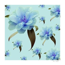 Blue Floral Dream #1 #decor #art