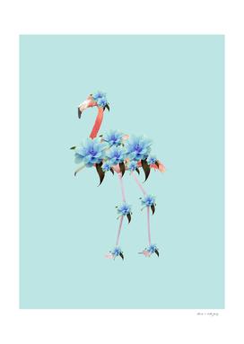 Flower Flamingo #1 #floral #decor #art