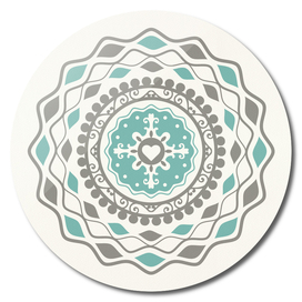 Heart Mandala – Blue