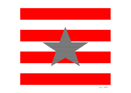 Star - red and white strips.