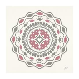 Heart Mandala – Pink