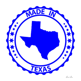 Made in Texas rubber stamp