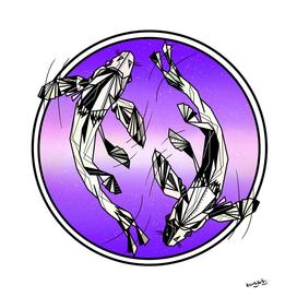 Pisces geometric zodiac sign