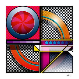 J Series 219 Abstract Pop Art Design