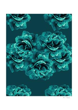 Turquoise Peony Flower Bouquet #1 #floral #decor #art