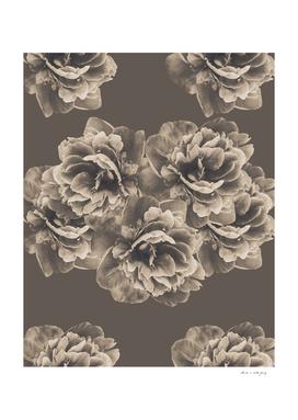 Sepia Peony Flower Bouquet #1 #floral #decor #art