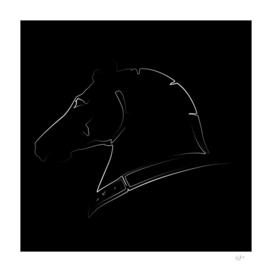 Venetian horse in black
