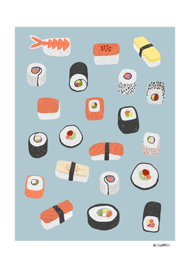 Sushi Roll Maki Nigiri Japanese Food Art