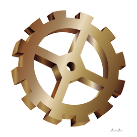 Gear icon illustration,