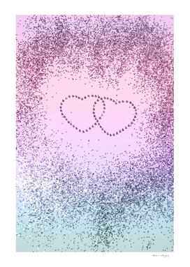 Unicorn Girls Glitter Hearts #1 #shiny #pastel #decor #art