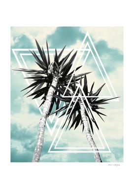Cali Summer Vibes Palm Trees Geometric Triangles #1