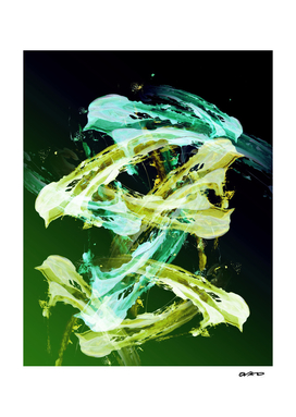 Green and Gold - Modern Abstract Expressionsim