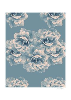 Blush Blue Peony Flower Bouquet #1 #floral #decor #art