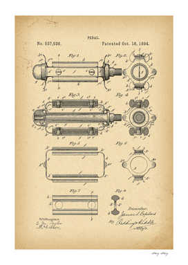 1894 Patent Velocipede Bicycle archive history invention