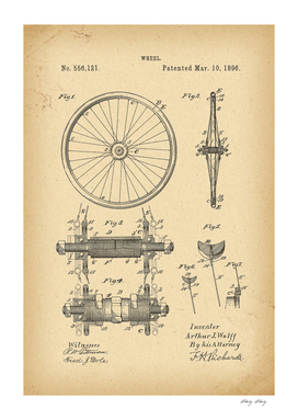 1896 Patent Velocipede Bicycle archive history invention