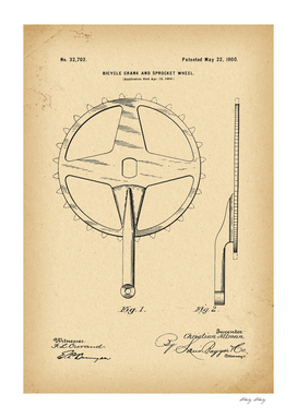 1900 Patent Velocipede Bicycle archive history invention