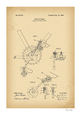1899 Patent Velocipede Bicycle archival history invention