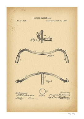 1897 Patent Velocipede Bicycle archive history invention