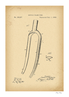 1898 Patent Velocipede Bicycle archival history invention