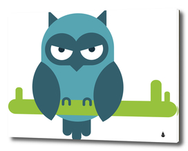 Owl comic animal