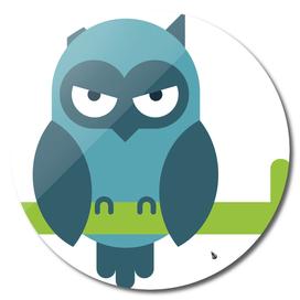 Owl comic animal