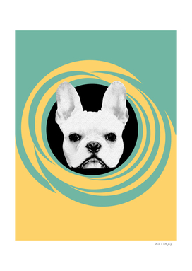 Frenchie Retro Disco Dog #3 #decor #art