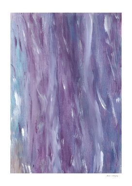 Touching Purple Blue Watercolor Abstract #1 #painting