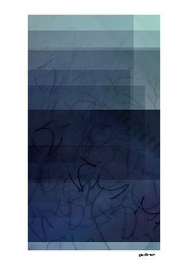 Shades of Blue - Digital Glitch Artwork