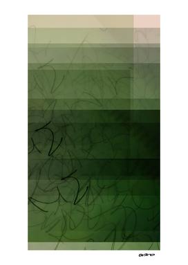 Somewhere in the Green - Digital Glitch Artwork