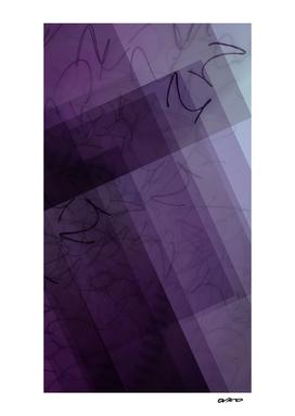 Blocks Dyed Violet - Digital Glitch Artwork