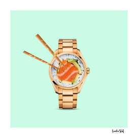 Sushi Watch Clock