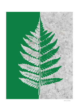 Natural Outlines - Fern Green & Concrete #259