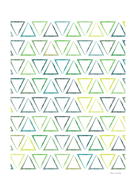 Triangular Peaks Pattern - Leaf #502
